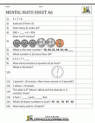 2nd grade mental math worksheets for 7 cb koogra