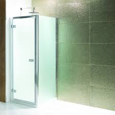 cotswold volente hinged shower door 700mm frosted glass