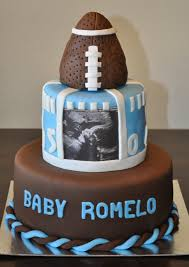 football baby shower football themed baby shower cake by summer s sweet treats
