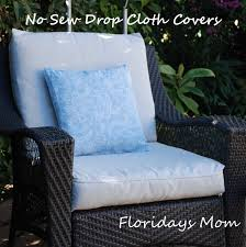 Canvas Outdoor Chairs No Sew Drop Cloth Cushion Covers Favorite Places U0026 Spaces