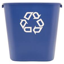 Waste Paper Bins Rubbermaid Commercial Medium Deskside Recycling Container