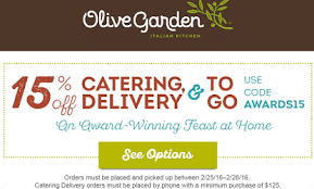 Printable Olive Garden Coupons Olive Garden 15 Off Catering And Togo Coupon Code Hunt4freebies