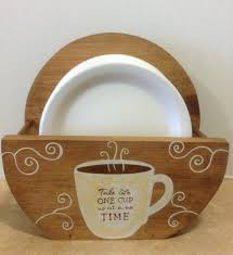 Cafe Kitchen Decor by Paper Plate Holder Coffee Decor Coffee Theme Bistro Theme