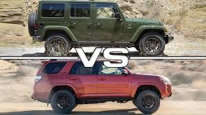 jeep wrangler limited vs unlimited jeep wrangler unlimited vs toyota 4runner