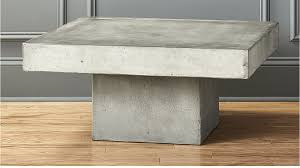 Concrete Table And Benches Element Cement Top Coffee Table Cb2