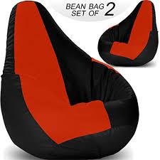 story home set of 2 giant designer recliner bean bag tan faux