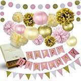 Gold And Pink Party Decorations Amazon Com Glitter Party Decorations Garland Gold White Pink