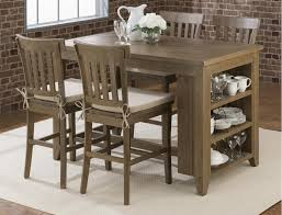 dining room table with storage slater mill reclaimed pine counter height table with 3 shelf storage