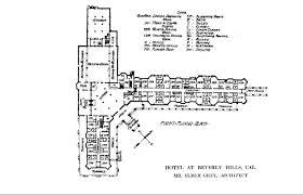 hotels floor plans file beverly hills hotel main floor plans 1913 jpg wikimedia commons