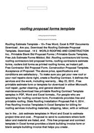 Hvac Estimate Template by Quote Template Word Forms Fillable Printable Sles For Pdf