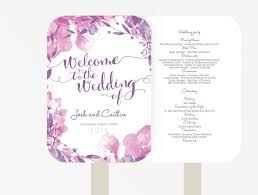 fan program wedding fan program editable ms word template diy floral