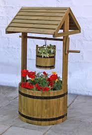 decorative wooden wishing well patio planter co uk