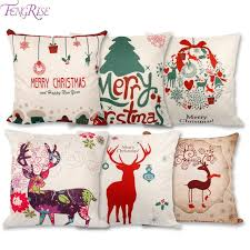 Decoration For Home Christmas by Aliexpress Com Buy Fengrise 45x45cm Pillow Case Christmas