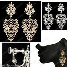 Blair Delmonico Crystal Beaded Chandelier Chandelier Clip On Costume Earrings Ebay