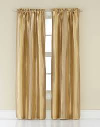 Jcpenney Silk Drapes by Faux Silk Stripe Window Curtain Panel Curtainworks Com