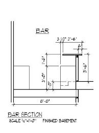 home bar floor plans home bar plans design blueprints drawings back bar counter section