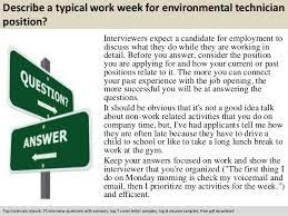 Environmental Technician Resume Sample by Environmental Technician Interview Questions
