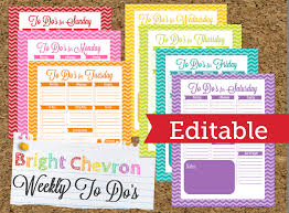 instant download editable chevron to do list and weekly