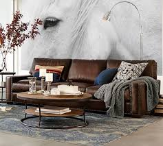Leather Sleeper Sofas Pottery Barn Leather Sleeper Sofa Ansugallery Com