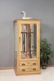Wood Gun Cabinet Amish Gun Cabinet With 12 Gun Carousel