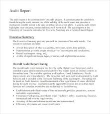 internal audit report template pdf 18 internal audit report