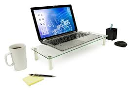 Laptop Riser For Desk Mount It Glass Monitor Stand Laptop Stand Ergonomic
