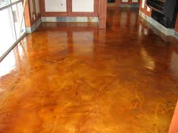 Laminate Flooring On Concrete Slab Brown Color Painting Concrete Floor Inside House In The Hallway