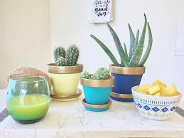 Cute Succulent Pots Cute Diy Painted Clay Pots U2026 U2013 Beauty Grace Coffee U0026 Lace