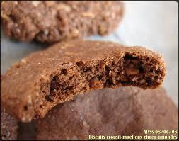 cuisine sans graisse biscuits crousti moelleux choco amandes sans matière grasse