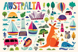 australian symbols illustrations creative market