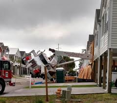 crane collapses onto house under construction in north myrtle be