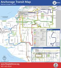Alaska Ferry Map by New Map For Anchorage Buses Has Few Neighborhood Stops But