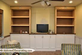 Built In Tv Bookcase Details Diy Bookcases Trimmed Diy Bookcase Hampedia