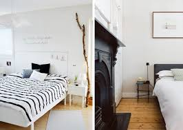 meuble blanc chambre une chambre en noir et blanc joli place
