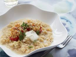 thanksgiving risotto recipe quinoa risotto with lemon and roasted tomatoes recipe ricardo