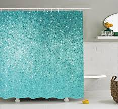 Simple Shower Curtains Turquoise Shower Curtain Set By Ambesonne Small Dot