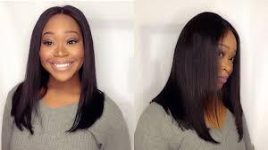 blunt hairstyle brazilian straight closure sheluxe