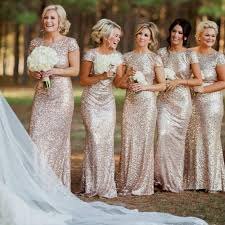 sequin bridesmaid dresses chagne sequin bridesmaid dresses naf dresses