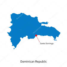 Map Dominican Republic Detailed Vector Map Of Dominican Republic And Capital City Santo