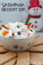 snowman dessert dip recipe love this dessert dips and for kids