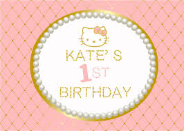 pink and gold hello kitty printable 1st birthday baby shower baby