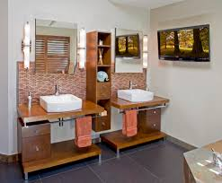 earth tone bathrooms bathroom traditional with side table shower earth tone bathrooms bathroom contemporary with floating cabinets floating cabinets bathroom lighting