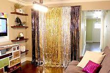 Gold Foil Curtain by Fringe Curtains For Party Curtain Best Ideas