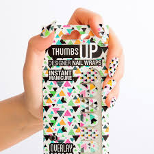 kaleido overlay nail wraps by thumbs up nails fy
