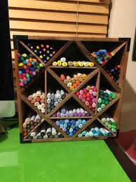 copic marker storage wine rack foam board double sided tape