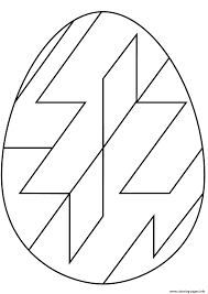abstract easter coloring pages easter egg with abstract geometric pattern coloring pages printable