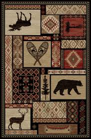 Patchwork Area Rug Dean Lodge King Patchwork Rustic Area Rug 5 3 X 7 3