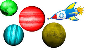 learning colors with spaceship and planets in english for kids