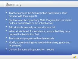 getting started with symphony math v5 using symphony math