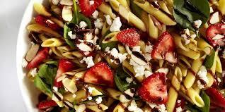 recipes for pasta salad strawberry balsamic pasta salad recipe delish com